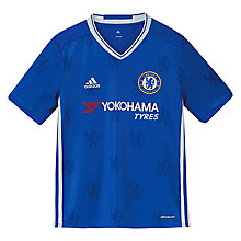 Buy Adidas Boys' Chelsea Football Club Home Jersey Top, Blue/White Online at johnlewis.com