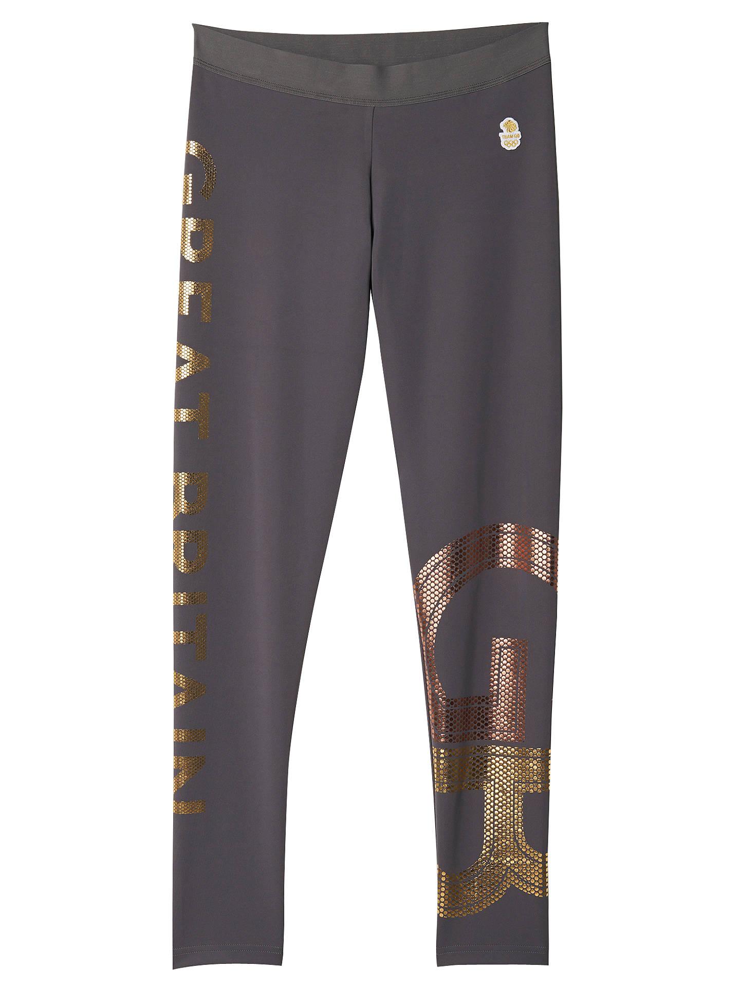 db0846ff93f99 Buy Adidas Stella McCartney Team GB Women's Training Tights, Granite/Gold,  XS Online ...
