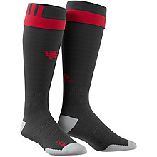 Buy Adidas Manchester United Home Socks 2016/17, Black/Red Online at johnlewis.com