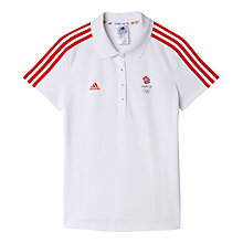 Buy Adidas Team GB Women's Polo Shirt, White Online at johnlewis.com
