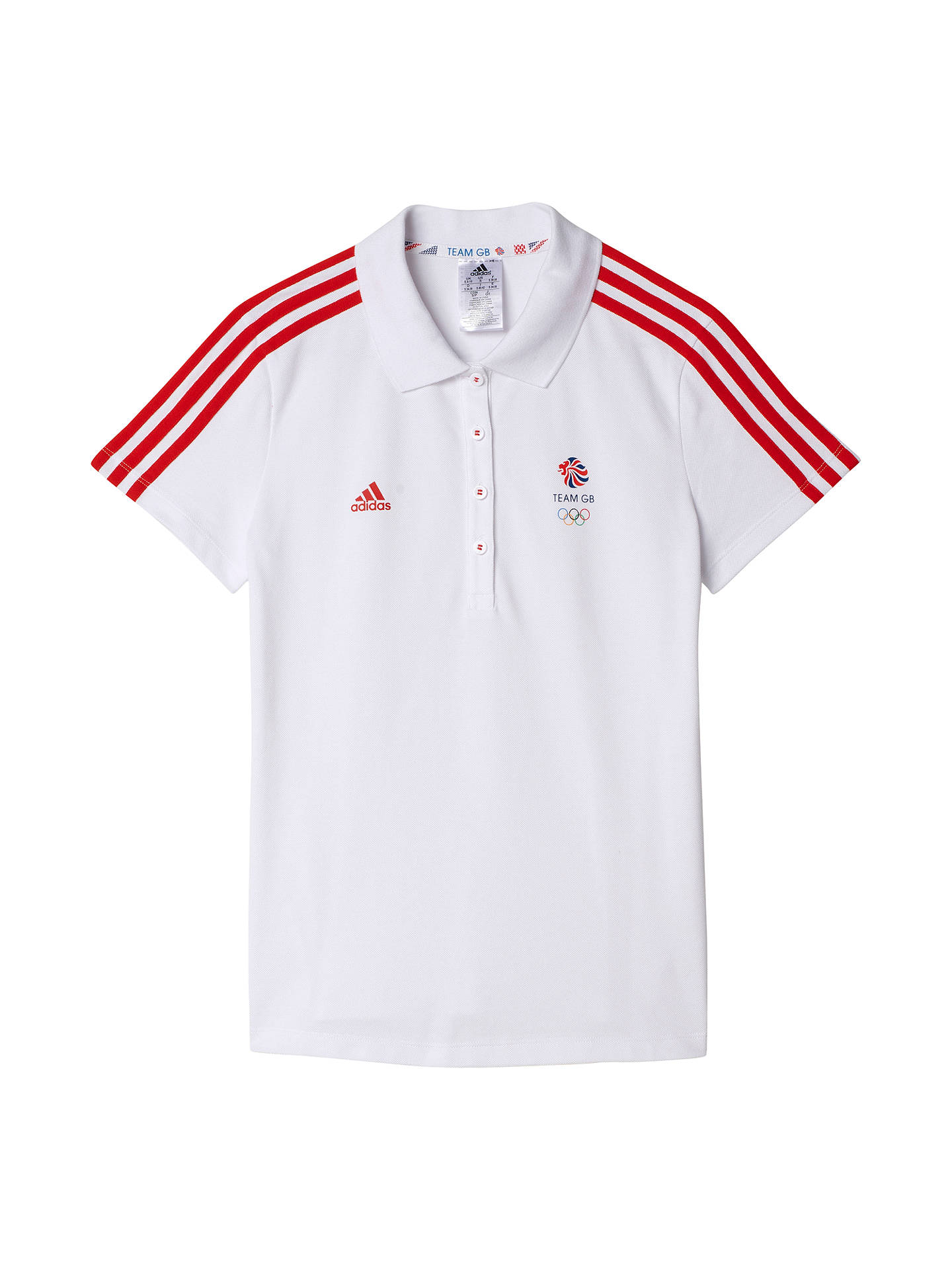 147280d3c Buy adidas Team GB Women's Polo Shirt, White, XS Online at johnlewis. ...