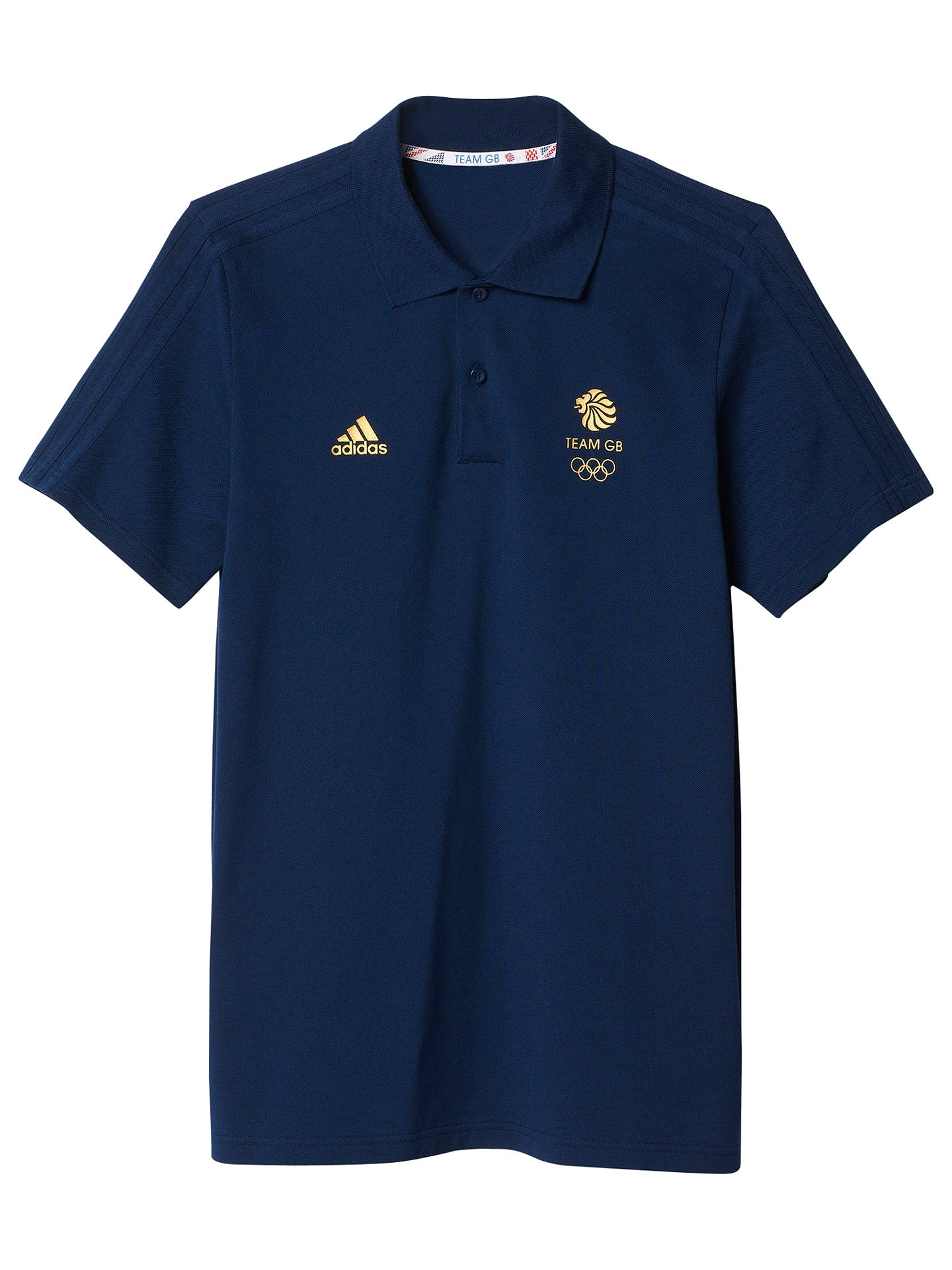 da35ed5dc Buy Adidas Team GB Men's Polo Shirt, Navy/Gold, S Online at johnlewis ...