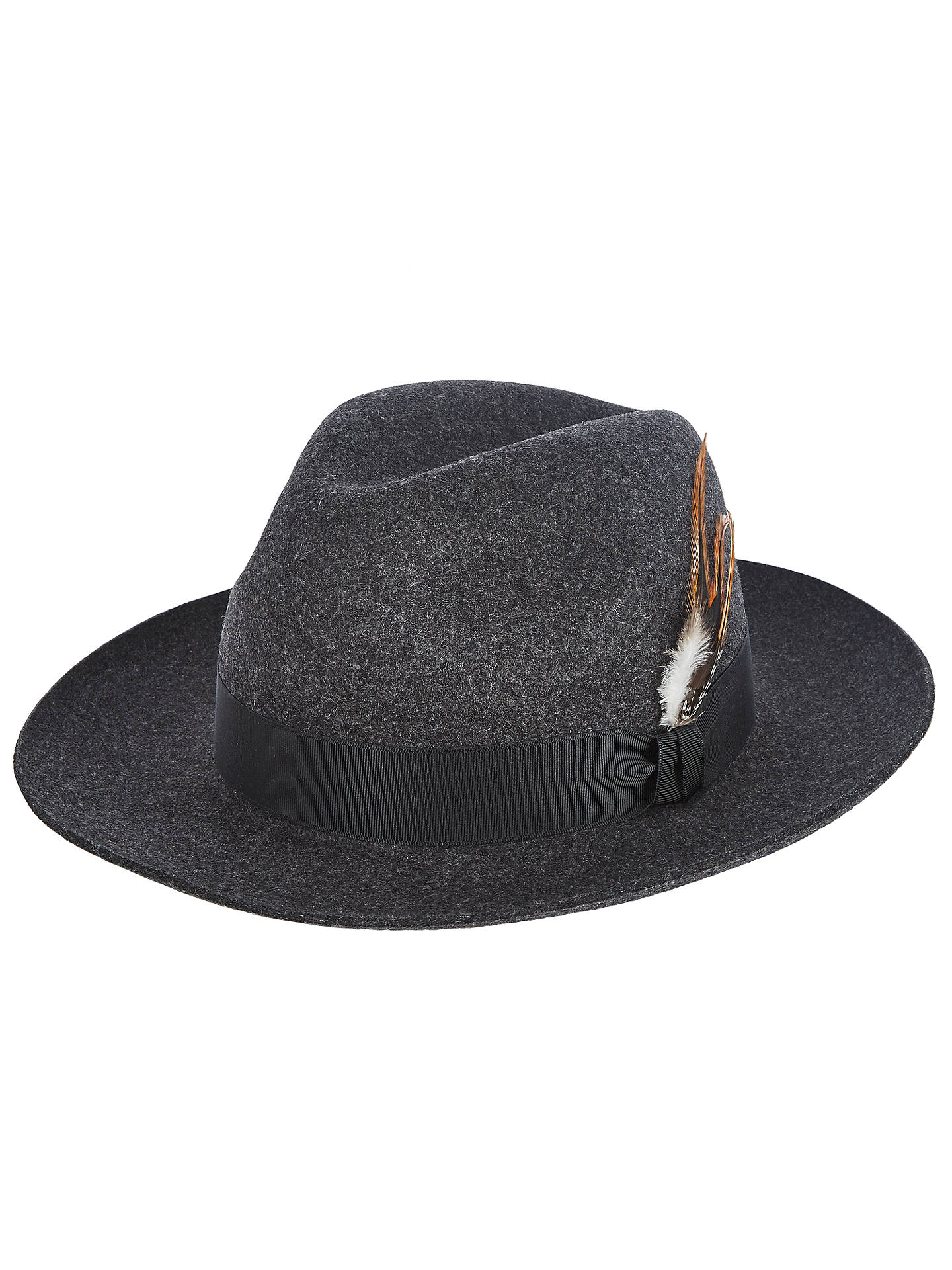 a585e73d309a02 Buy Christys' Grosvenor Fedora Hat, Charcoal, M Online at johnlewis. ...