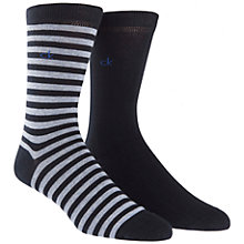 Buy Calvin Klein Bar Stripe Socks, Pack of 2, Navy Online at johnlewis.com
