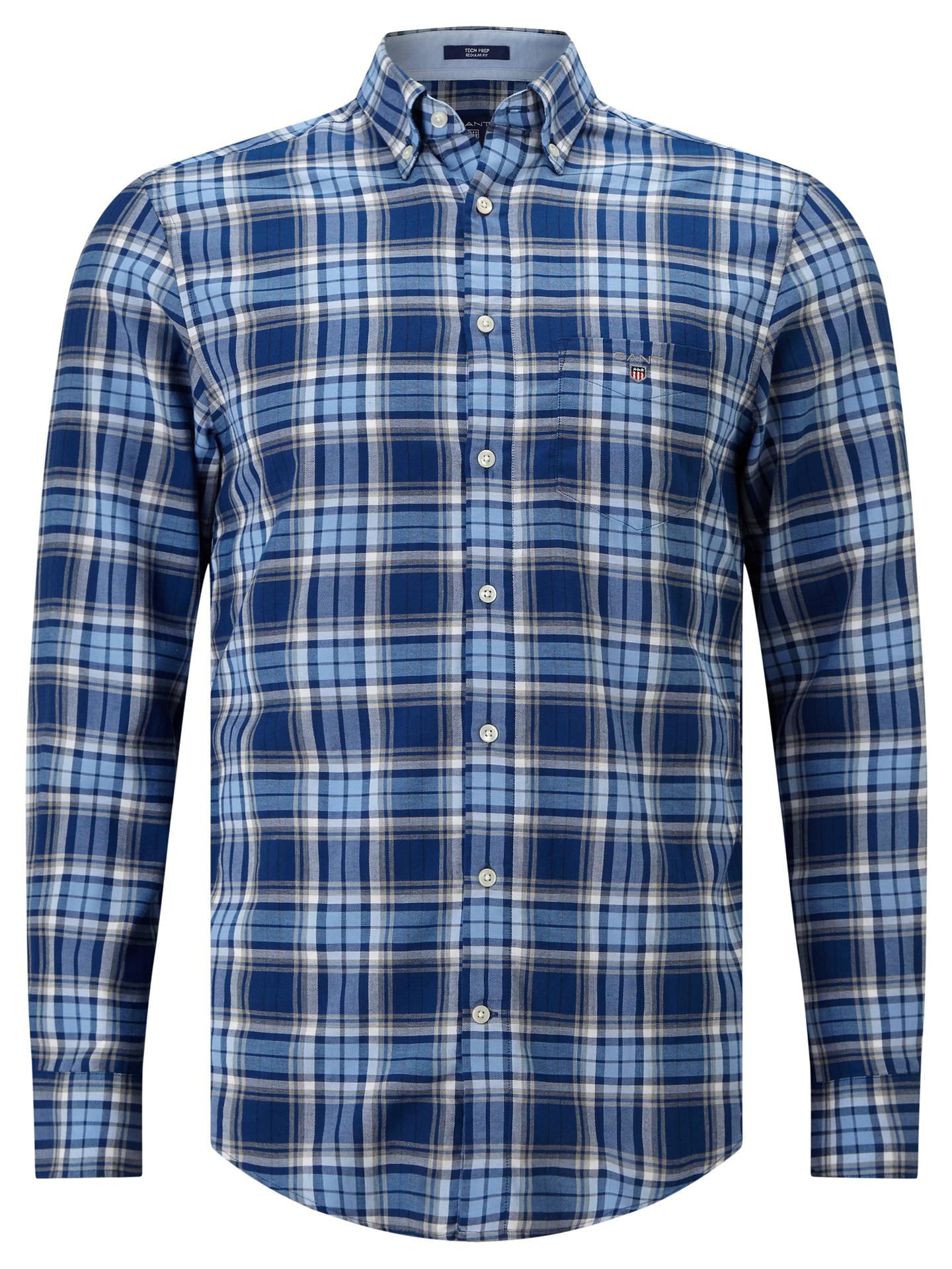 36fae3146e Buy Gant Oxford Plaid Regular Fit Shirt, Yale Blue, S Online at johnlewis.