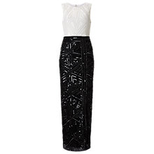 Buy Phase Eight Collection 8 Grace Embellished Dress, Black/White Online at johnlewis.com