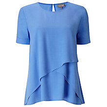 Buy Phase Eight Louise Layered Blouse, Island Blue Online at johnlewis.com