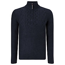 Buy John Lewis Frosty Cable Zip Neck Jumper Online at johnlewis.com