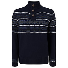 Buy John Lewis Frosty Fair Isle Jumper, Navy Online at johnlewis.com