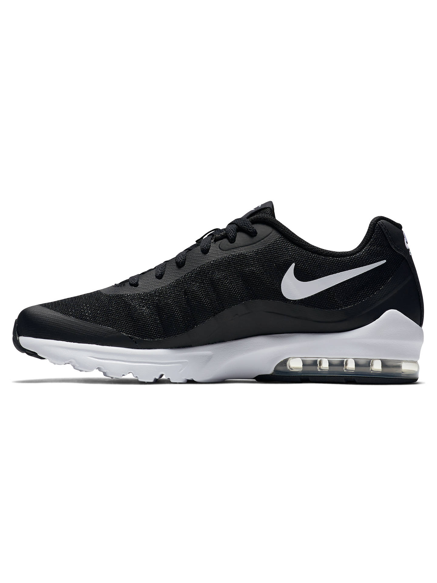 huge selection of a6ac6 870d0 ... Buy Nike Air Max Invigor Men s Trainers, Black White, 10 Online at  johnlewis ...