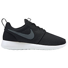 Buy Nike Roshe One Men's Trainers, Black/Anthracite Online at johnlewis.com