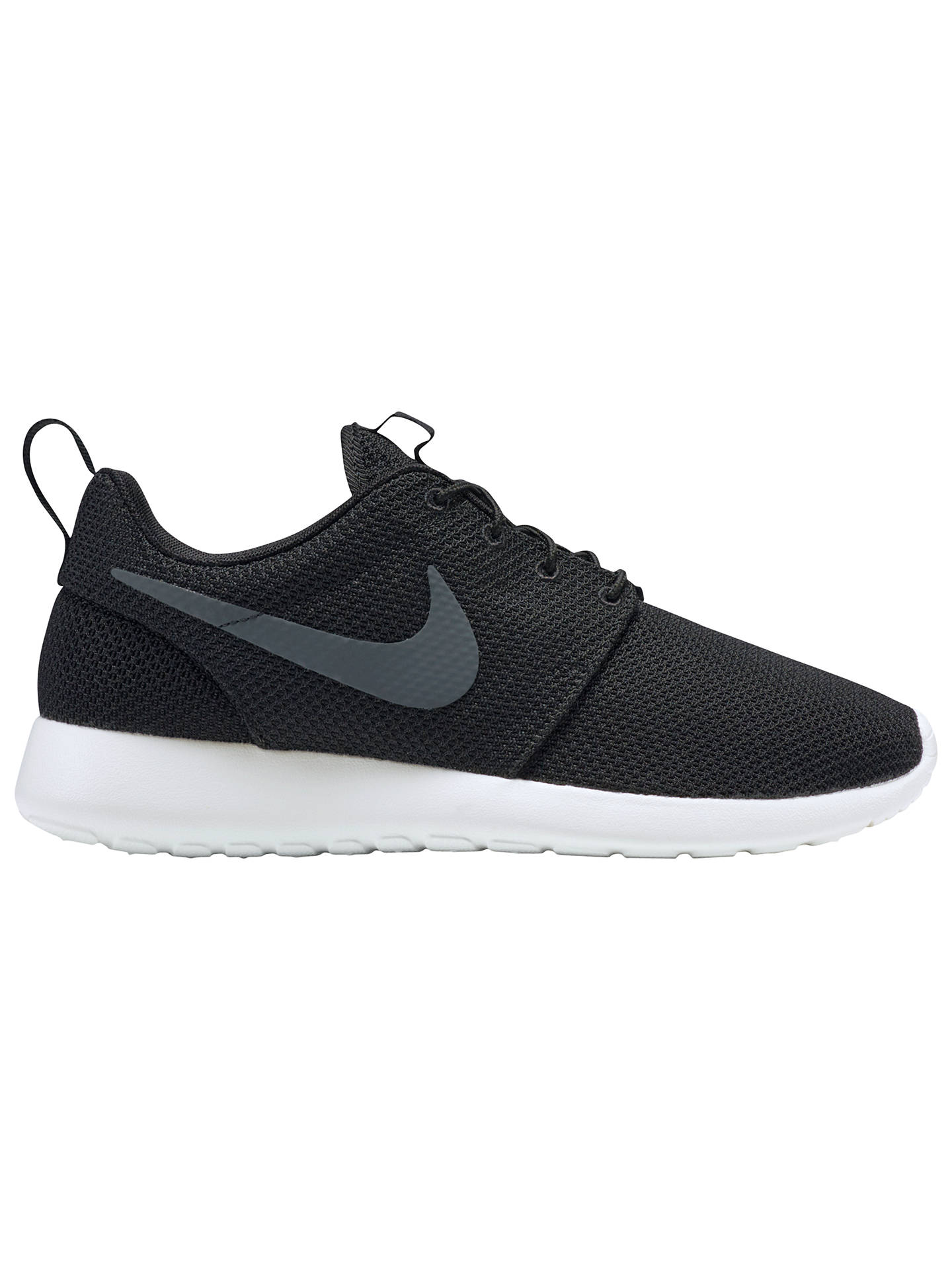 huge discount 20fa3 f1c52 Buy Nike Roshe One Men s Trainers, Black Anthracite, 7 Online at johnlewis.