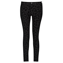 Buy French Connection Snow Leopard Jeans, Black Online at johnlewis.com