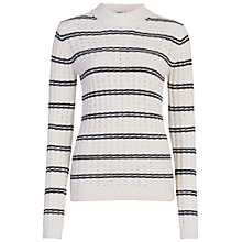 Buy French Connection High Neck Jumper, Winter White/Utility Blue Online at johnlewis.com