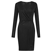 Buy French Connection Snake Dress, Dark Charcoal Online at johnlewis.com