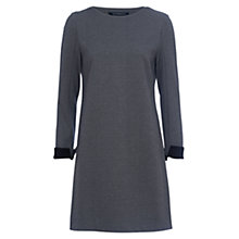 Buy French Connection Lula Dress, Dark Grey Mel/Black Online at johnlewis.com