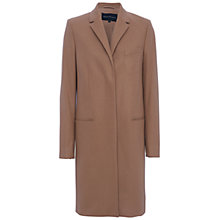 Buy French Connection Platform Felt Long Sleeve Coat, Indian Tan Online at johnlewis.com
