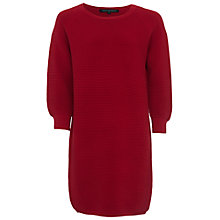 Buy French Connection Mozart Ripple Cotton Jumper Dress, Red Sky Online at johnlewis.com