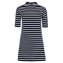 Buy French Connection Terry Striped Mock Neck Dress Online at johnlewis.com