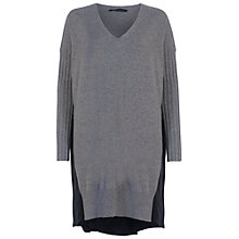 Buy French Connection Aries Jumper Dress, Grey/Black Online at johnlewis.com