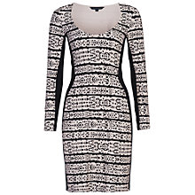 Buy French Connection Mayan Scoop Dress, Black/Cream Online at johnlewis.com