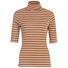 Buy French Connection Duty Stripe Short Sleeve Polo Neck Top Online at johnlewis.com