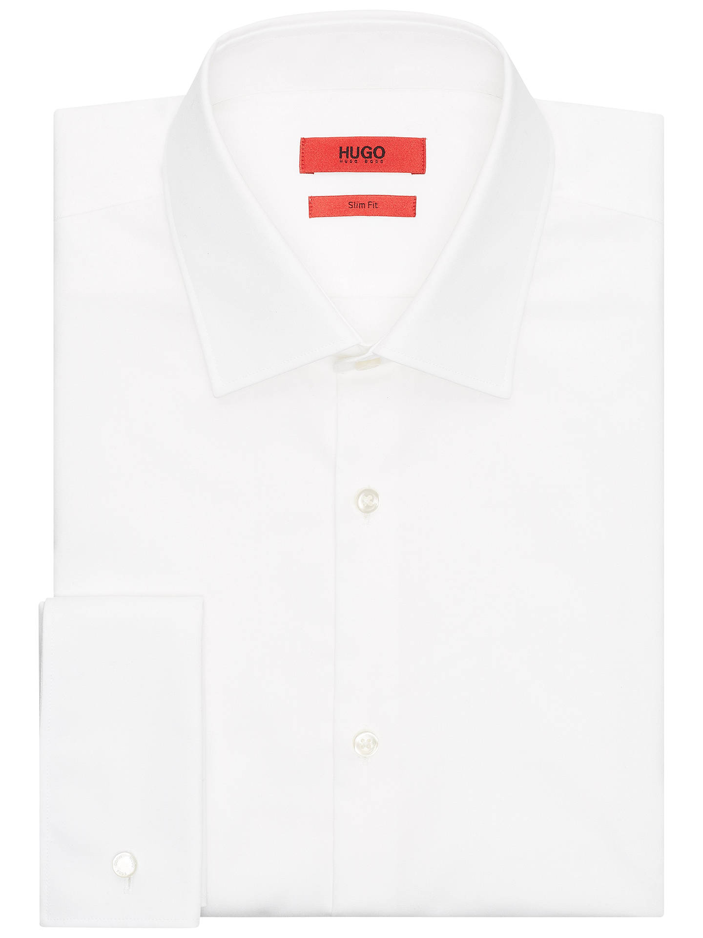 58878481 Buy HUGO by Hugo Boss C-Jacques Double Cuff Slim Fit Shirt, Open White ...