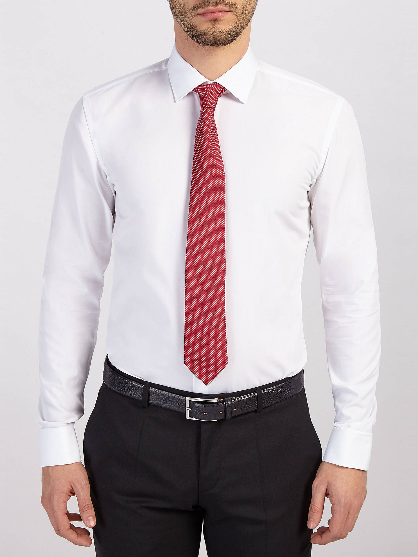 7769e0a2 ... Buy HUGO by Hugo Boss C-Jacques Double Cuff Slim Fit Shirt, Open White  ...