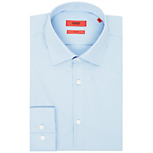 Buy HUGO by Hugo Boss Jenno Plain Cotton Slim Fit Shirt Online at johnlewis.com