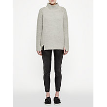 Buy French Connection Street Faux-Leather Trousers, Black Online at johnlewis.com