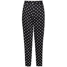 Buy French Connection Spot Cotton Trousers, Black/Winter White Online at johnlewis.com