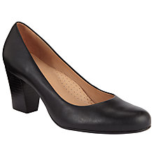Buy John Lewis Ashlyn Block Heel Court Shoes, Black Online at johnlewis.com