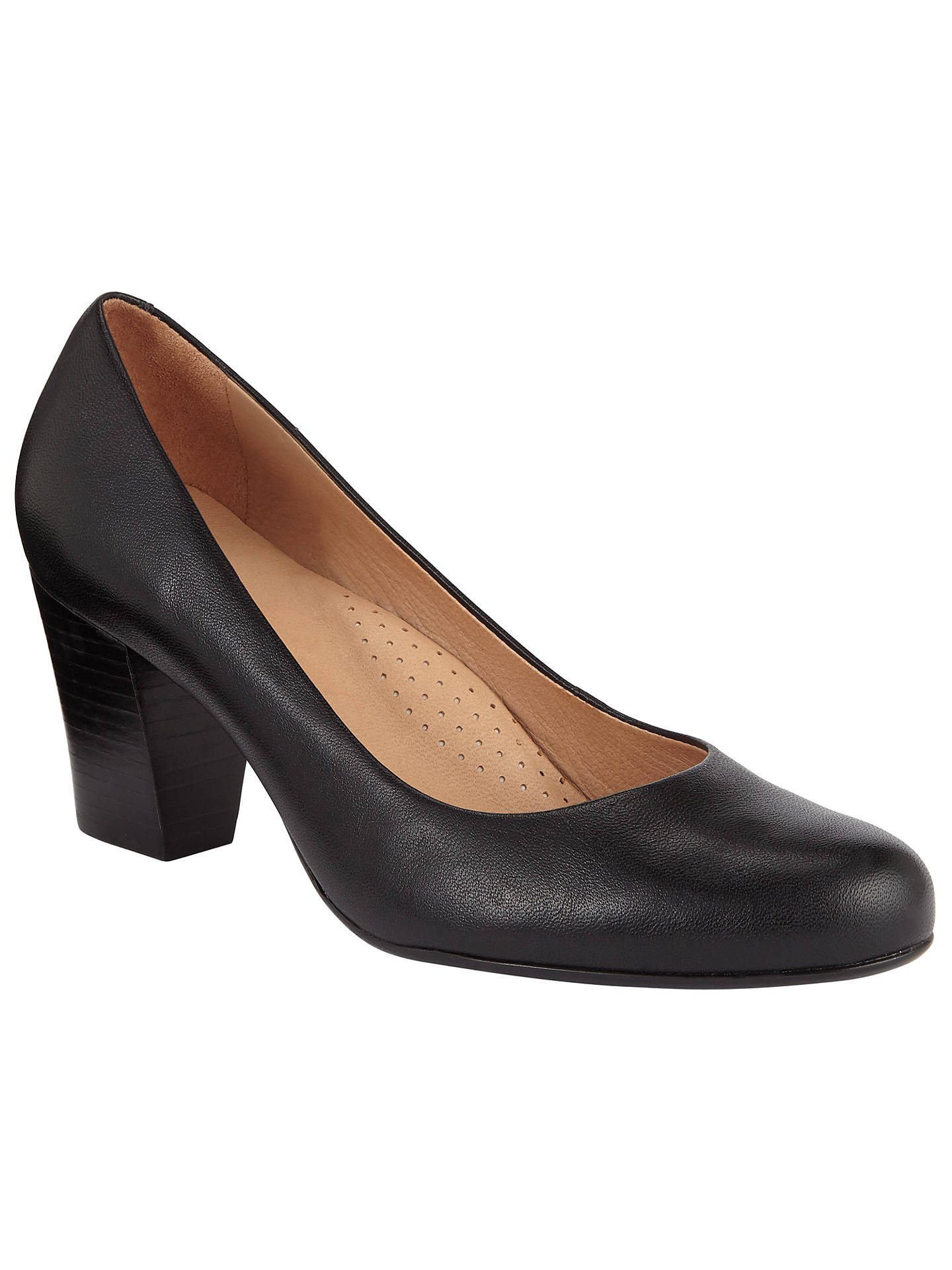 e5f6539006f John Lewis Ashlyn Block Heel Court Shoes, Black at John Lewis & Partners