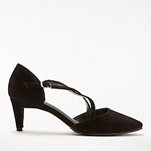 Buy John Lewis Adaline Strap Court Shoes, Black Suede Online at johnlewis.com