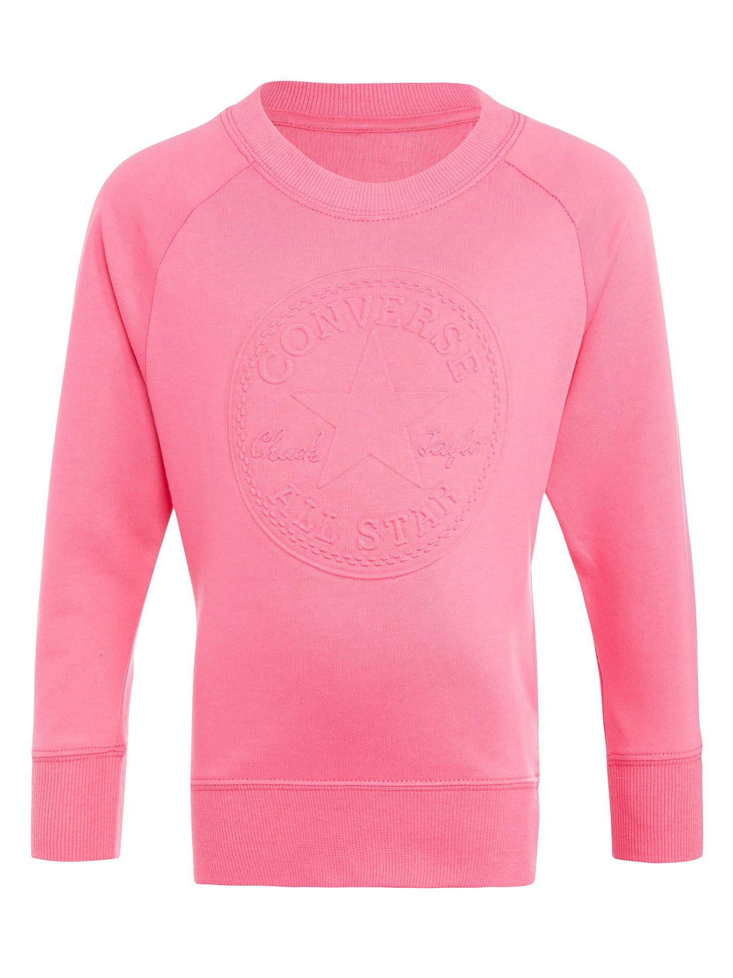 431107823 BuyConverse Girls' Embossed Logo Tunic Sweatshirt, Pink, 3-4 years Online  at ...