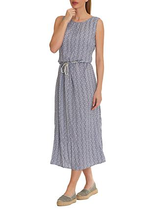 Betty & Co. Printed Maxi Dress, Nature Dark Blue