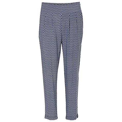 Buy Betty & Co. Graphic Print Trousers, Dark Blue Online at johnlewis.com