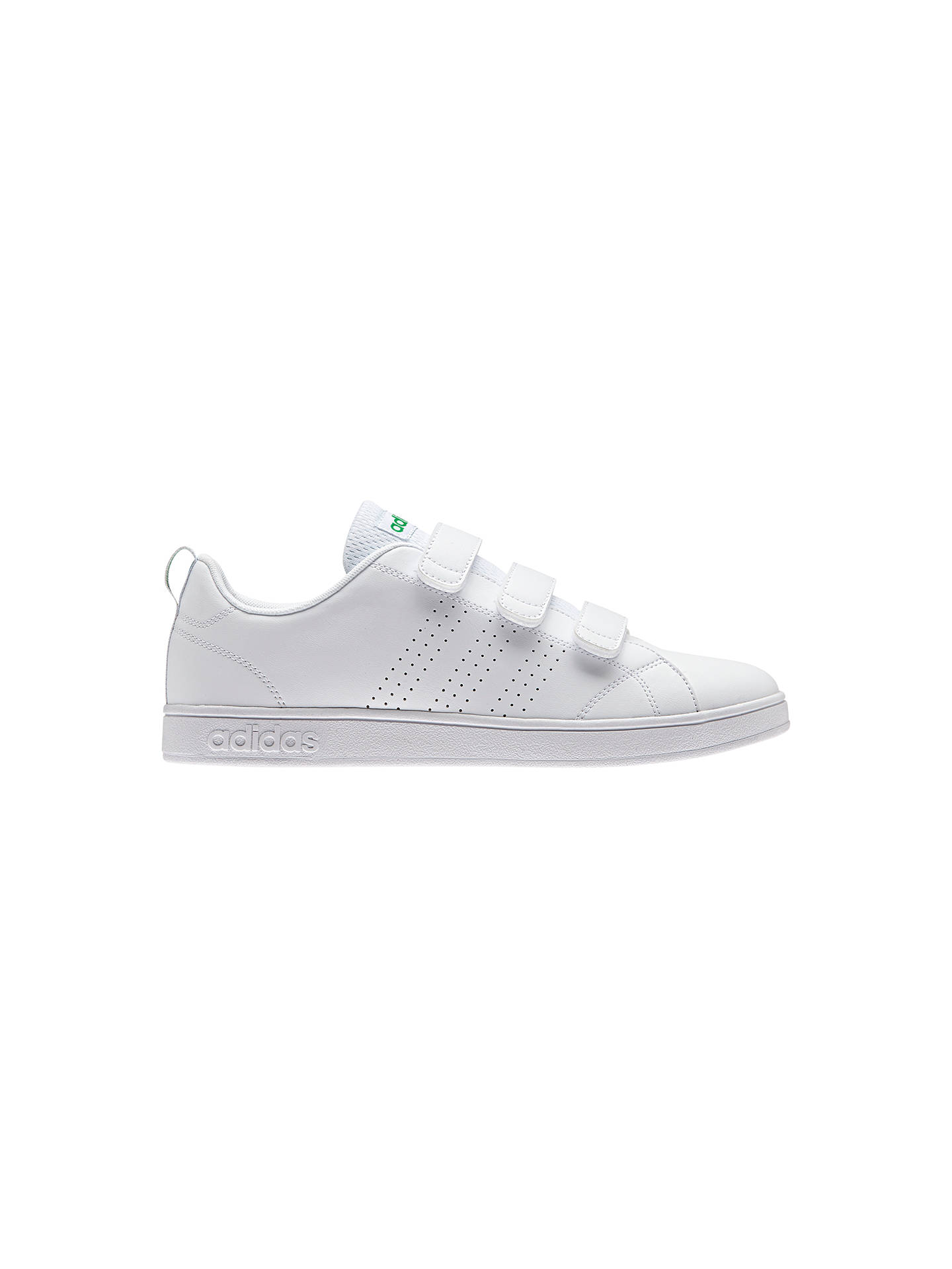 best service 784c1 69a7a ... BuyAdidas Neo Advantage Clean 3-Strap Mens Trainers, White, 9 Online  at johnlewis ...