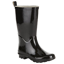 Buy John Lewis Children's Tall Gloss Wellingtons Boots, Black Online at johnlewis.com