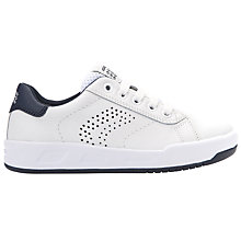 Buy Geox Children's J Rolk Lace Trainers, White Online at johnlewis.com