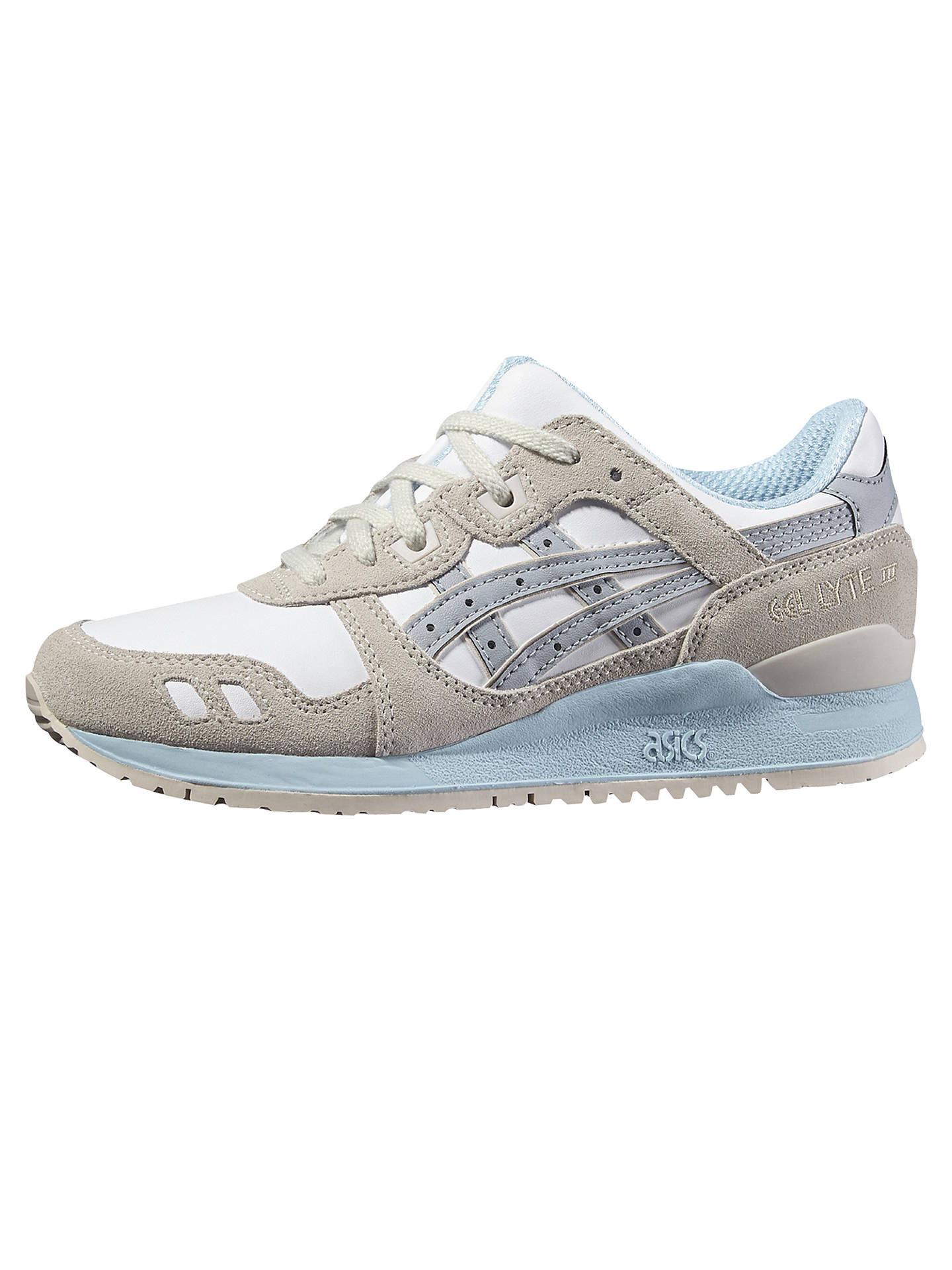 promo code 52a6f 2e6af Asics Tiger Gel Lyte III Women's Trainers, White/Multi at ...