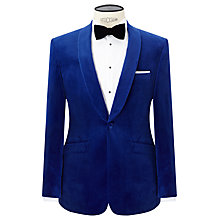 Buy John Lewis Shawl Lapel Velvet Tailored Dinner Jacket, Sapphire Online at johnlewis.com