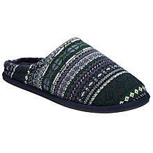 Buy John Lewis Fair Isle Mule Slippers, Navy Online at johnlewis.com