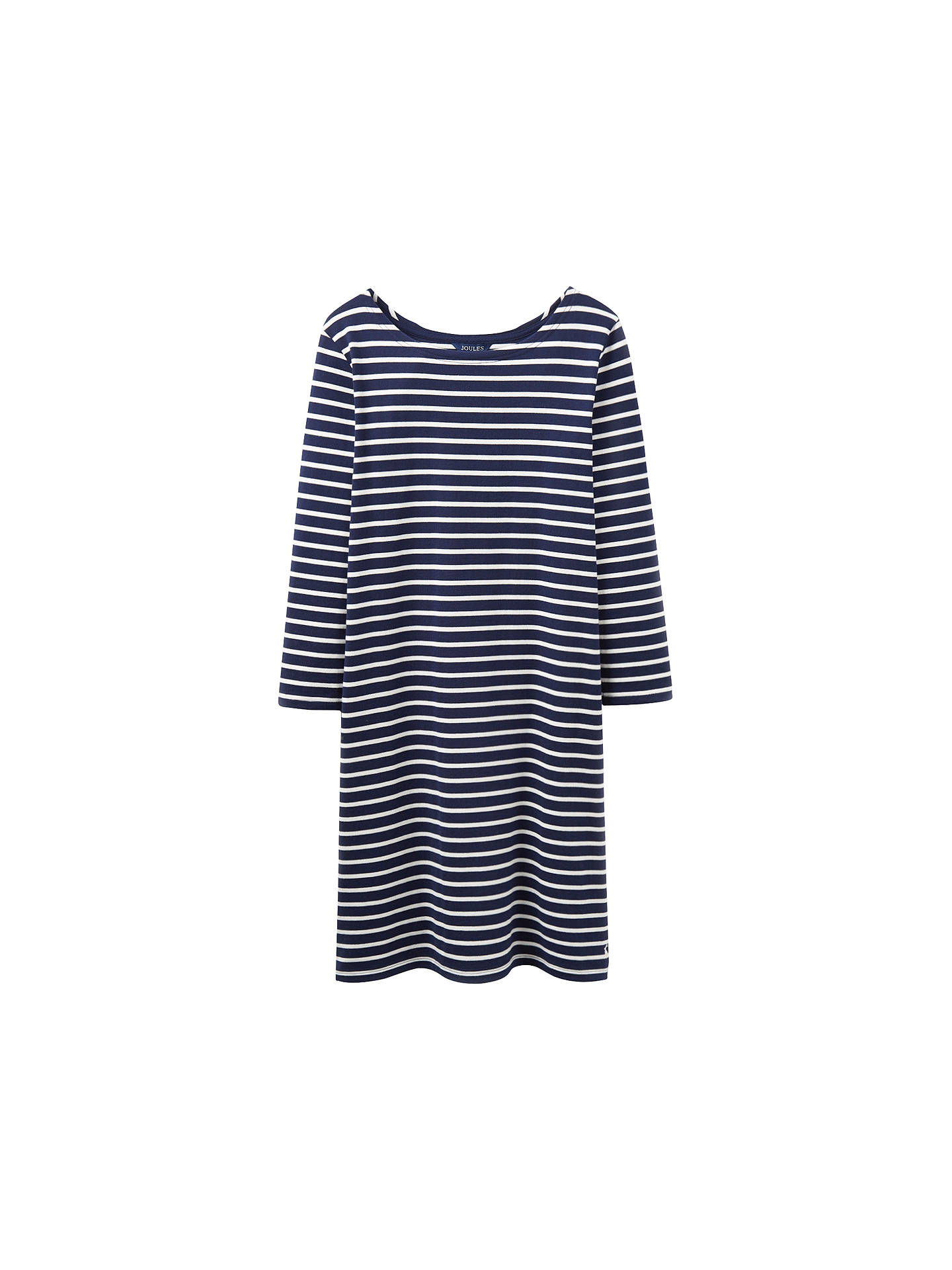 4f90d9d3d523 Buy Joules Riviera 3/4 Sleeve Jersey T-Shirt Dress, French Navy Stripe ...