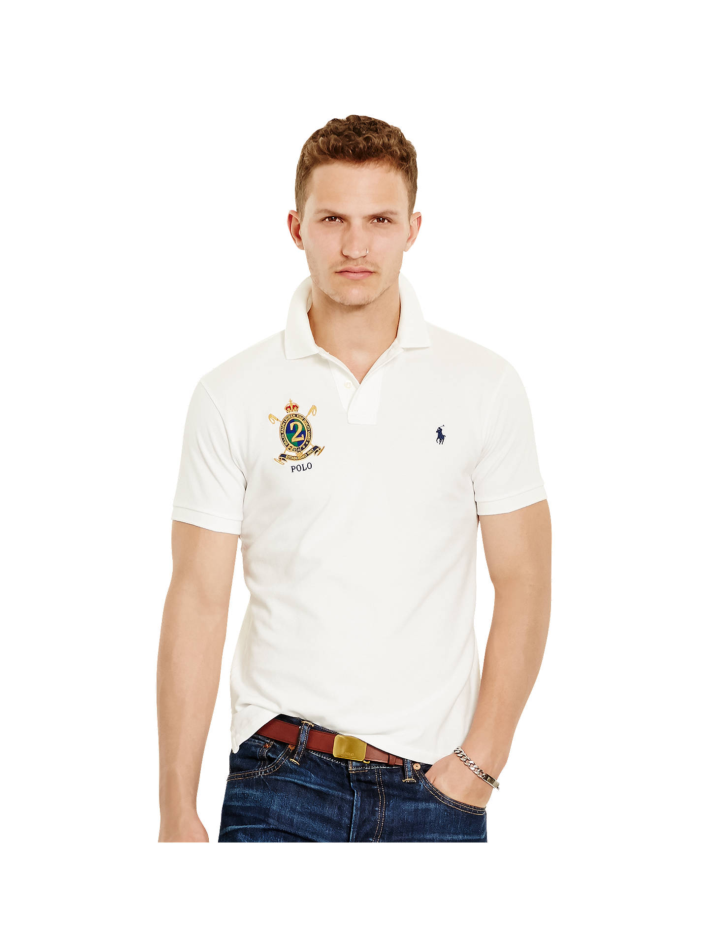1c6957ad1c Polo Ralph Lauren Short Sleeve Custom Fit Featherweight Polo Shirt ...