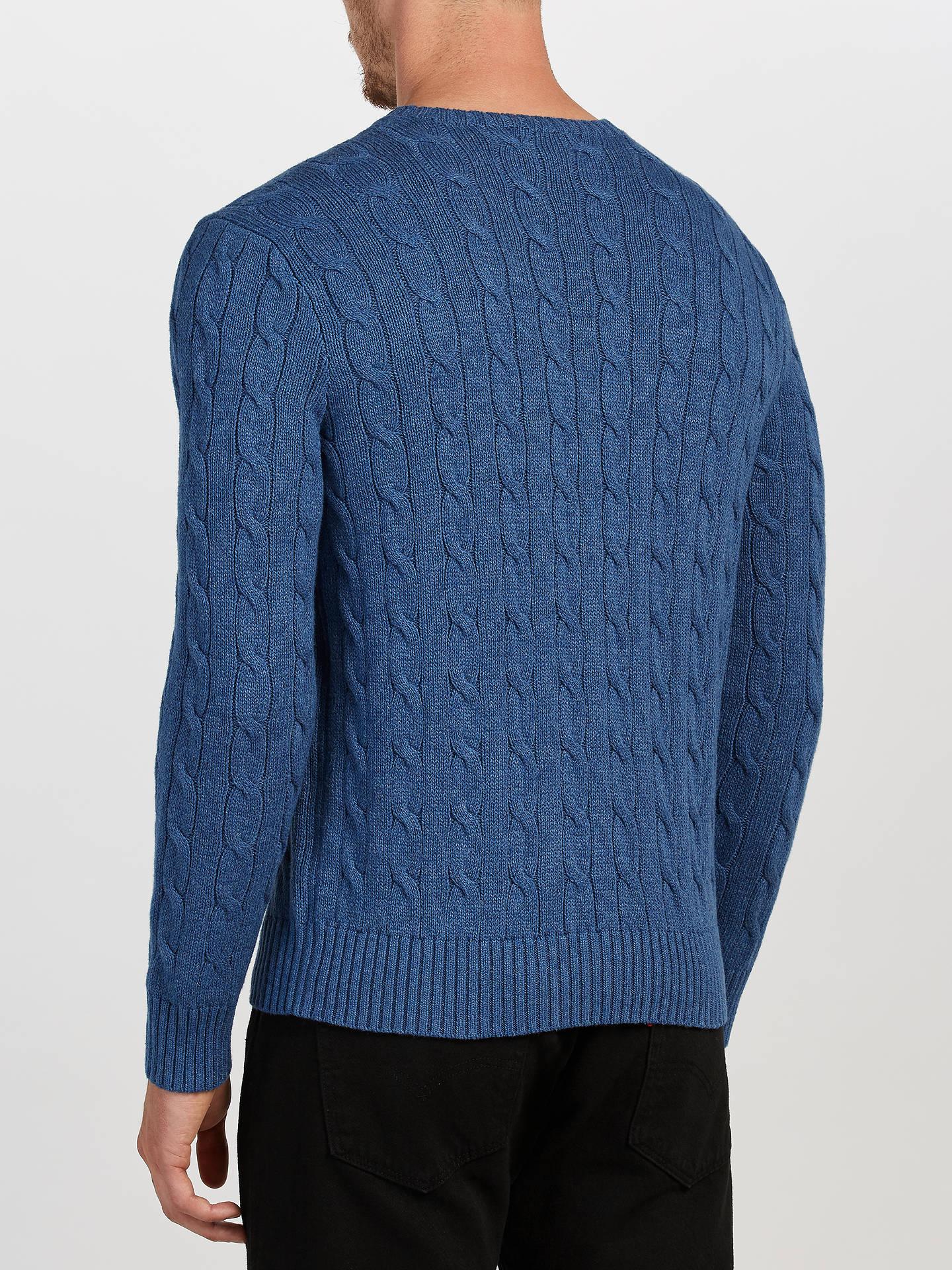 37316b9d8f157 Polo Ralph Lauren Cable Knit Crew Neck Jumper at John Lewis   Partners