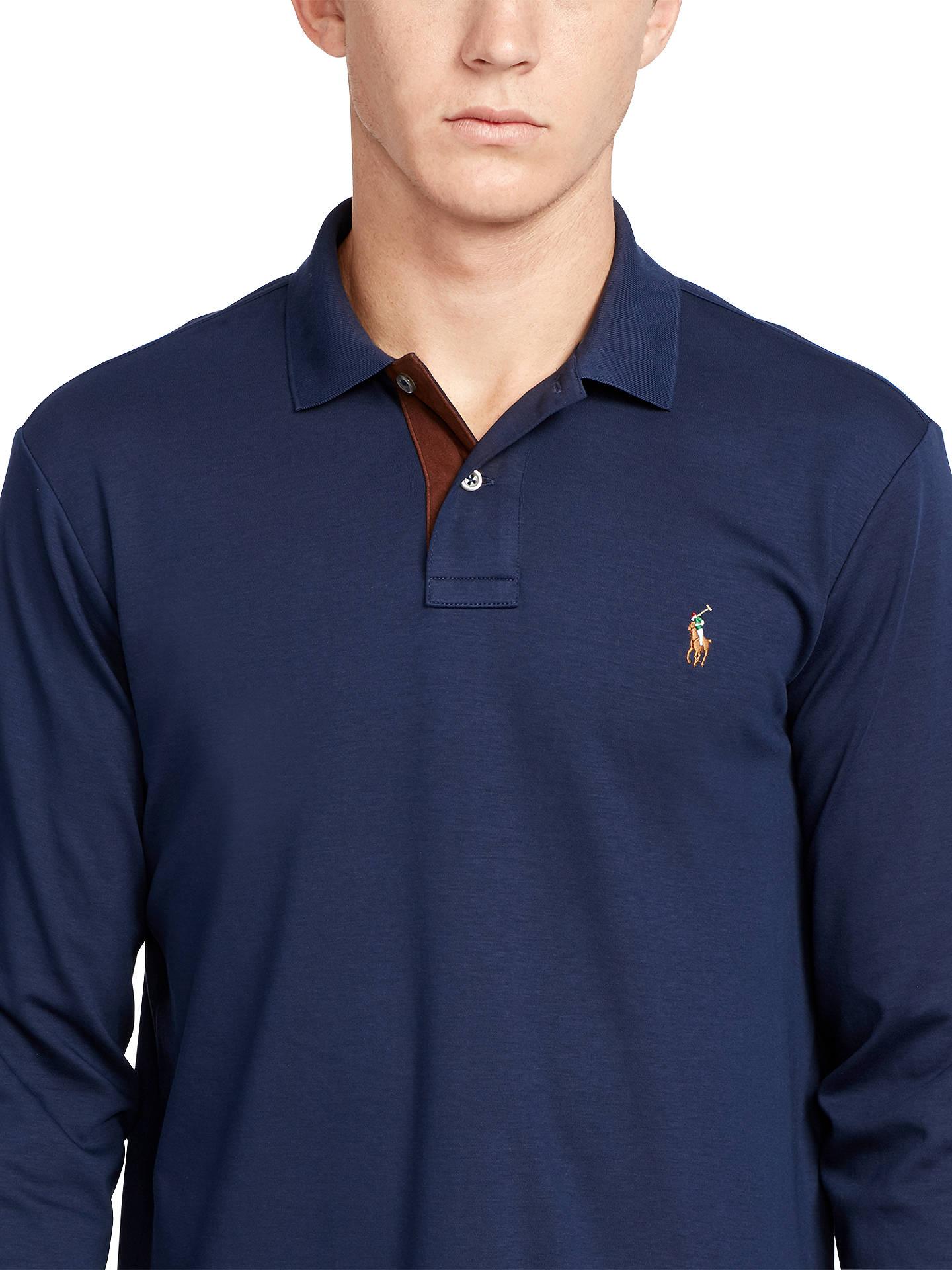 At Sleeve Pima Long Polo Cotton Shirt Ralph Custom Fit Lauren YbEH29WDeI