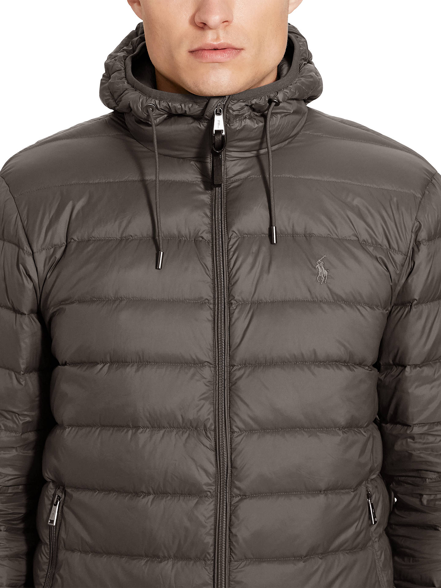 8e69dc85 Polo Ralph Lauren Filled Down Jacket | Vintage Grey at John Lewis ...