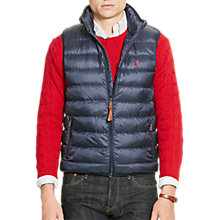 Buy Polo Ralph Lauren Packable Down Fill Gilet, Aviator Navy Online at johnlewis.com