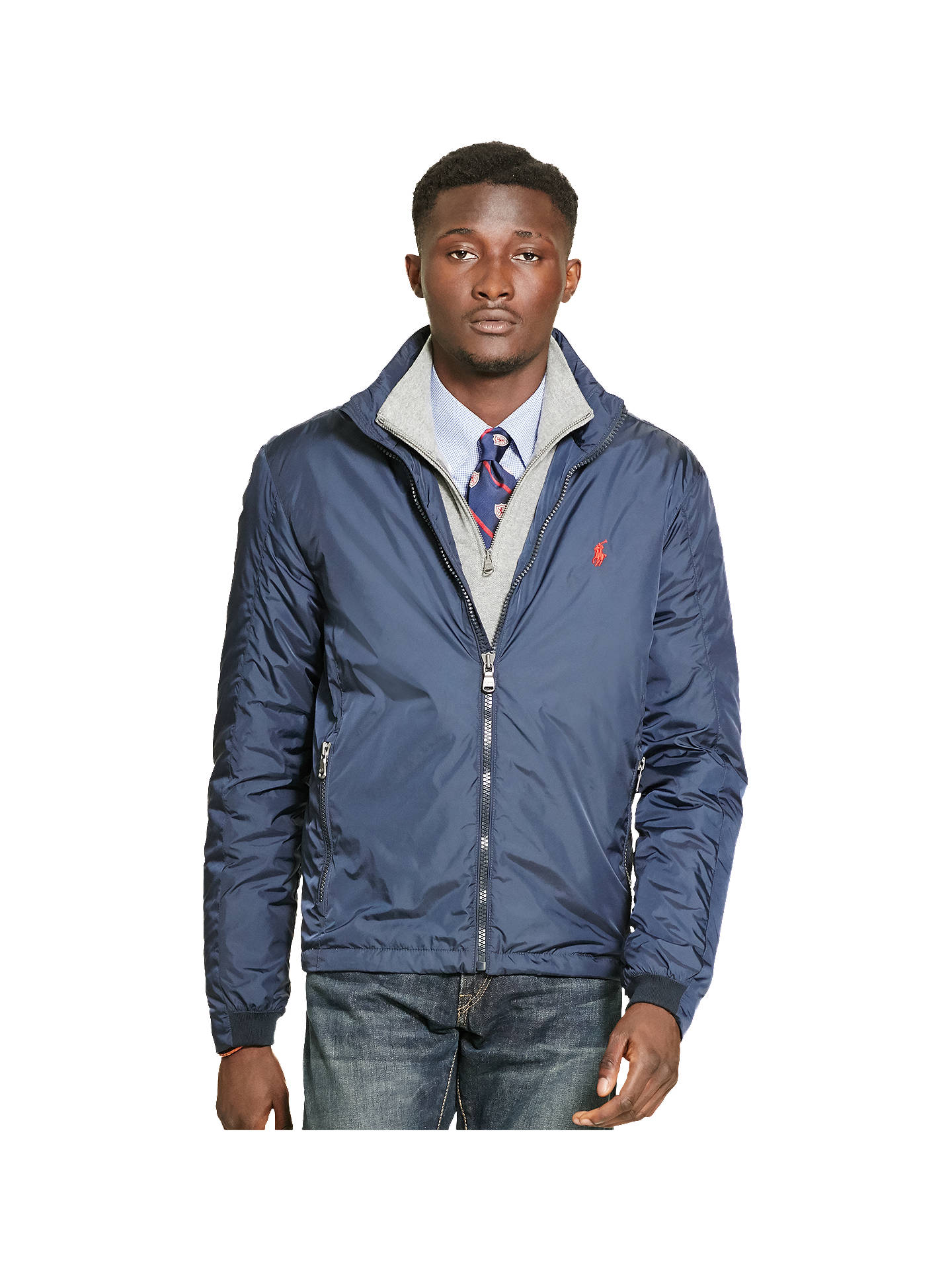 At Lauren Polo Windbreaker Navy Ralph JacketAviator Retford John MVqSzpGU